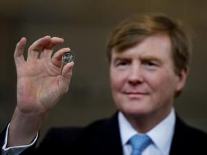 Eerste euro's met Koning Willem-Alexander geslagen
